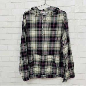 URBAN OUTFITTERS OVERSIZED FLANNEL PULLOVER TOP L